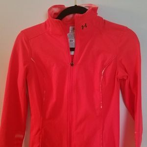 Under Armour orange lightweight jacket